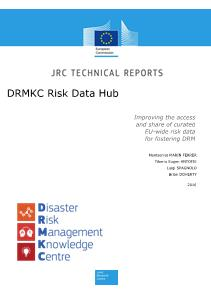 DRMKC Risk Data Hub: Improving the access and share of curated EU-wide risk data for fostering DRM